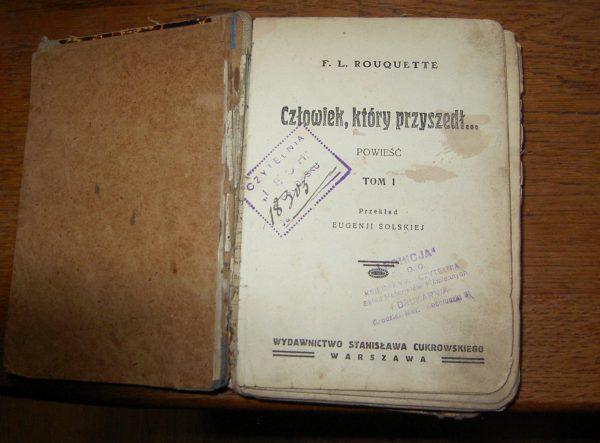 F. L. Rououette CZLOWIEK .KTORY PRZYSZEDT